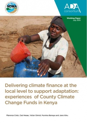 Delivering climate finance at the local level to support adaptation