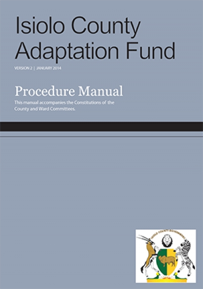 Isiolo County Adaptation Fund: Procedure Manual