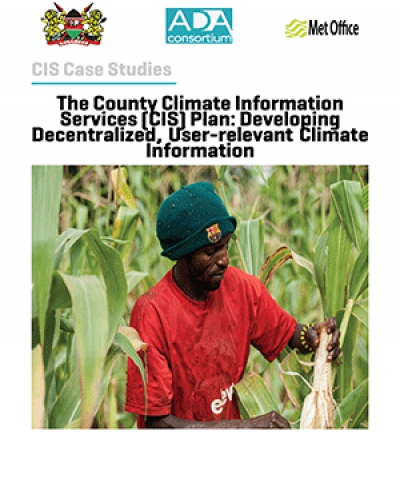 The County Climate Information  Services (CIS) Plan