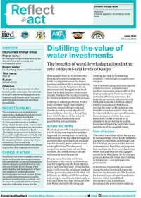Distilling the value of water investments