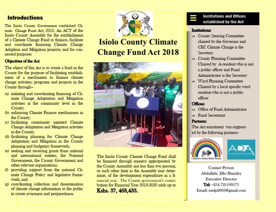Simplified Version CCCF Act Isiolo
