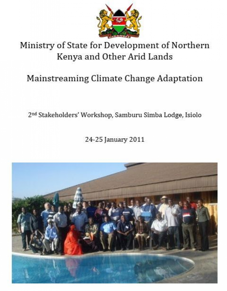 Mainstreaming Climate Change Adaptation