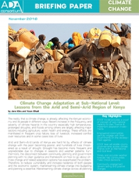 Climate Change Adaptation at Sub-National Level: Lessons from Arid and Semi-Arid Region of Kenya