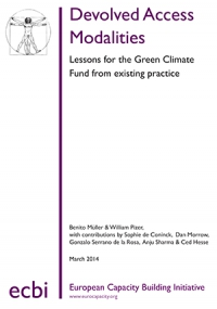 Devolved Access Modalities: Lessons for the Green Climate Fund