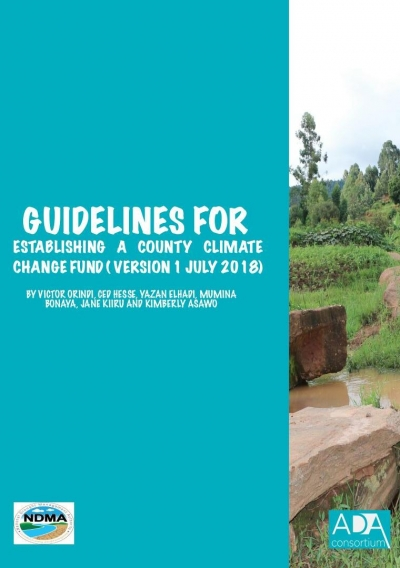Formated Guideline on Establishing County Climate Change Fund