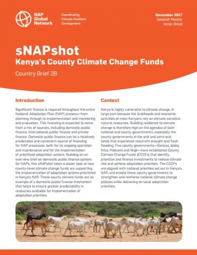 sNAPshot - Kenya's County Climate Change Funds